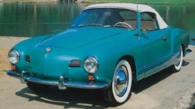 Karmann-Ghia coupe prices ran about $900 more than a Beetle sedan, convertible prices were some $400 above a Bug ragtop. This 1958 Karmann-Ghia convertible cost $2,725.