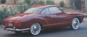 The Karmann-Ghia used the chassis and engine of the VW Beetle, but had a shapelier body.