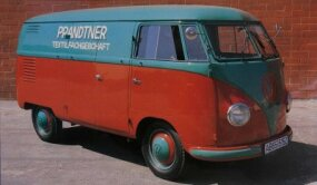The earliest Volkswagen Buses won renown as both passenger models and as slow but handy utility vehicles such as this.