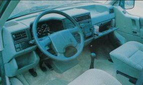 A modern dashboard layout helped, but the EuoVan driving position still was not as car-like as most Americans would have desired.