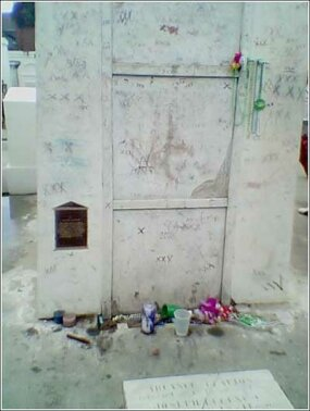The burial site of Haitian Voodoo leader Marie Laveau