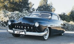 Wally Welch had the front pan and grille shell of his Mercury molded, and the headlights were frenched in.