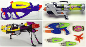 Some of the Super Soakers in the 2001 line Click on each picture to see a larger image.