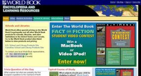 World Book Encyclopedia's Web page is an example of a Web 1.0 information resource.