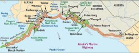 View Enlarged Image This map points out the highlights of Marine Highway for sightseers.