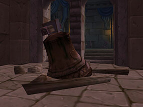 This bell tolled as Arthas slew his father, King Terenas Menethil. It now rests on the floor in the ruins of Lordaeron, which has become the gateway to the Undercity,