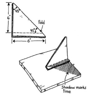 Cut your sundial to the dimensions shown in the picture.