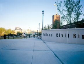 The struggle for civil rights in the United States is the focus of the National Civil Rights Museum in Memphis.