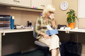 You're not doing anyone any favors by dragging your sick self into the office.