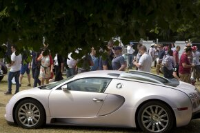 At the time of publication, the Bugatti Veyron 16.4 Super Sport actually held the Guinness title of fastest production car, at least for a while. You're looking at a Bugatti Veyron EB 16.4.