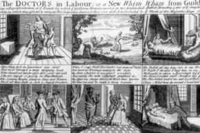 A popular 18th-century broadsheet illustrated what went down during the Mary Toft hoax.