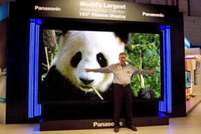 This 150-inch HDTV was shown at the 2008 Consumer Electronics Show.