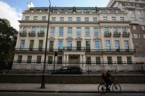 A general view of 2-8a Rutland Gate, the most expensive house to go on the market in London.