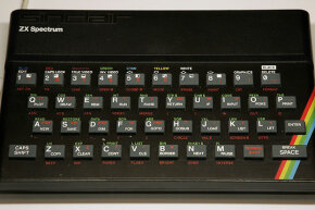 A Sinclair ZX Spectrum computer on display at the Science Museum in London, 2006.