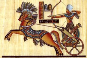 One of the earliest uses of the wheel was on Egyptian chariots.