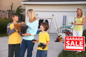 A moving sale can help you pare down your belongings and make a little cash.