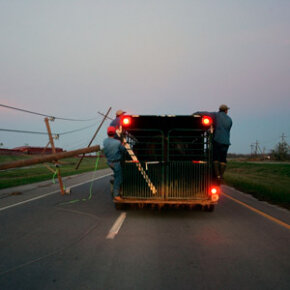 You should never ride inside (or outside) a towed trailer.