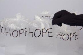 Hopefully, those bags of hope don't break.