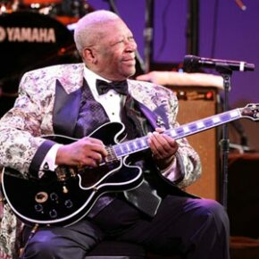 B.B. King on stage during the Thelonious Monk Institute of Jazz Honoring B.B. King event at the Kodak Theatre on Oct. 26, 2008 in Los Angeles, Calif.