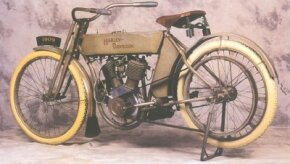 The 1909 Harley-Davidson was one of the early models by the legendary motorcycle company.
