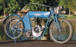 With a starting price of $200, the 1910 Emblem was a popular choice for early motorcycle buyers. See more motorcycle pictures.
