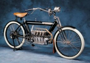 In an era of single-cylinder motorcycles, the 1910 Pierce stood out for its four-cylinder engine. See more motorcycle pictures.