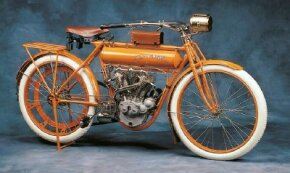 "The 1911 Flying Merkel offered simple but effective ""Merkel-style"" front forks."