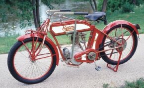 The 1914 Sears Deluxe was available for purchase in the famous Sears and Roebuck catalog. See more motorcycle pictures.