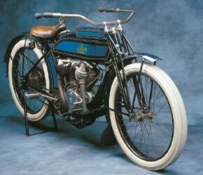 The 1914 Thor is a fine example of early motorcycle design, though the company would stop building motorcycles after 1917. See more motorcycle pictures.