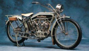 The 1915 Iver Johnson had many thoughful design touches, but wasn't particularly powerful. See more motorcycle pictures.