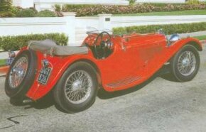The 1936 SS Jaguar 100 two-seater was a newcomer for the season.
