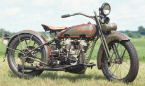 It enjoyed major technological advancements, but the 1925 Harley-Davidson JD was offered only in a drab olive-green color. See more motorcycle pictures.
