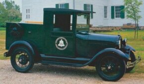 """This 1928 Ford Model AA telephone truck has an enclosed cab -- a """"luxury"""" because most pickups of the day were roadsters with a fold-down top. See more classic truck pictures."""
