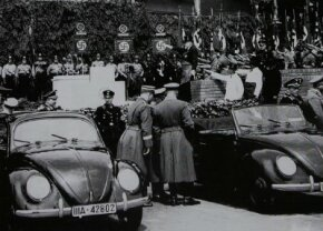 With much fanfare, Adolf Hitler on May 26, 1938, presided over the cornerstone ceremony for the new Volkswagen factory in what would later be called Wolfsburg.