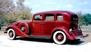 A Garnet Maroon first-series 1933 Graham Series 57 Eight DeLuxe four-door sedan
