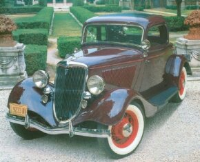 Ford emphasized the economy of the Depression-era 1934 DeLuxe five-window coupe. See more classic car pictures.