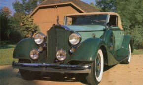 The 1934 Packard Eight was the low-level, but most popular, series for that year. See more classic car pictures.
