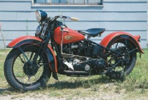 The 1936 Harley-Davidson EL introduced ground- breaking design changes to the Harley line. See more motorcycle pictures.