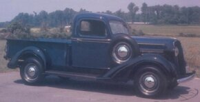 Looking much like the Dodge offering of the same period, this 1937 Plymouth PT-50 half-ton pickup cost less than the Dodge new but is worth more now. See more classic truck pictures.