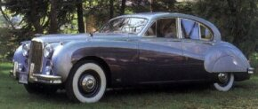 This 1959 Mark IX was one in a line of post-war sedans from Jaguar.
