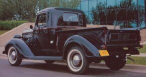 """This 1938 Dodge RC pickup represented the end of an era: It was the last to wear the old """"Dodge Brothers"""" radiator badge. See more classic truck pictures."""