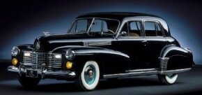 New styling for 1941 included an eggcrate grill, seen on this 1941 Cadillac Sixty Special sedan.