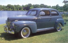 Ford's Super DeLuxe years began with the 1941 model. The popular Tudor sedan listed at $818. See more classic car pictures.