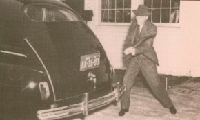 This 1941 Ford has a soybean deck lid, whose toughness and durability Henry Ford demonstrated to reporters by attacking it with an axe.
