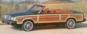 The front-drive LeBaron convertible featured a spacious rear seat area.