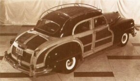 The roof rack shifted to all chrome and became standard for the T&C sedan in July 1947.