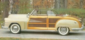 This 1948 T&C convertible featured Di-Noc decal inserts instead of wood and white ash framing.