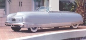 The 1941 Chrysler Thunderbolt Roadster's styling was inspired by Budd steamliner trains. See more classic car pictures.