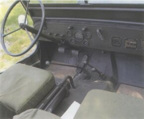 One of the shortcomings of the jeep was its nearly useless handbrake.