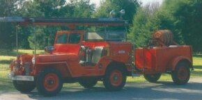The Jeep CJ-2A had many civilian uses. One of the most popular was its conversion to a light fire truck.
